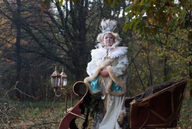 Snow Queen on her mobile Snow Chariot